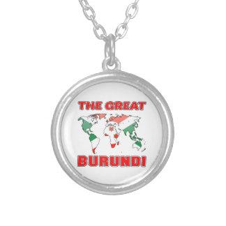 The Great BURUNDI. Round Pendant Necklace