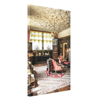 The Great Chamber at Athelhampton House Dorset Stretched Canvas Print