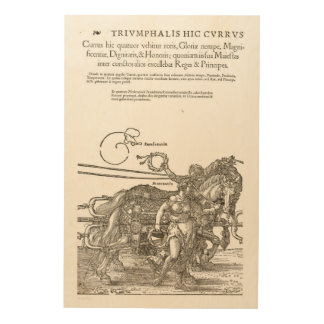 The great chariot in honor of Emperor 1519 Wood Wall Art