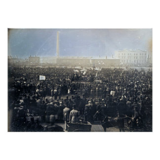 The Great Chartist Meeting on Kennington Common Poster