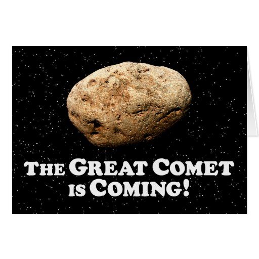The Great Comet is Coming  - Dark Greeting Card