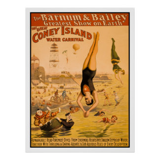 The Great Coney Island Water Carnival 2 Print