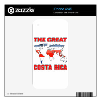 The Great COSTA RICA. Skin For The iPhone 4S