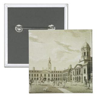 The Great Court Yard, Dublin Castle, 1792 (engravi Button