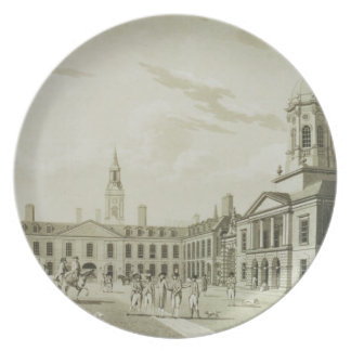 The Great Court Yard, Dublin Castle, 1792 (engravi Melamine Plate