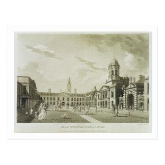 The Great Court Yard, Dublin Castle, 1792 (engravi Postcard