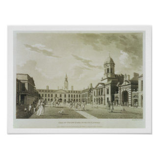 The Great Court Yard, Dublin Castle, 1792 (engravi Poster