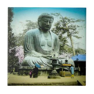 The Great Daibutsu at Kamakura Vintage Old Japan Ceramic Tile