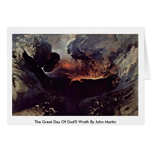 The Great Day Of God'S Wrath By John Martin Greeting Card