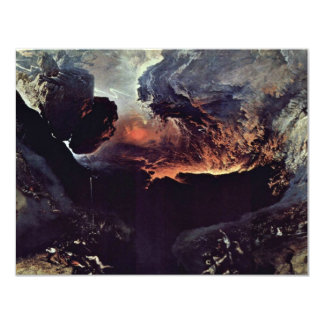 "The Great Day Of God'S Wrath By John Martin 4.25"" X 5.5"" Invitation Card"