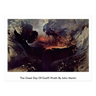 The Great Day Of God'S Wrath By John Martin Postcard