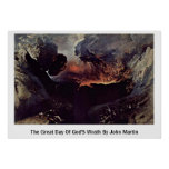 The Great Day Of God'S Wrath By John Martin Posters