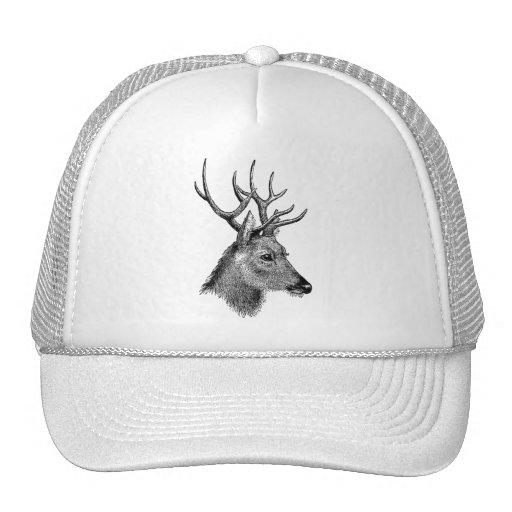 The great deer buck trucker hat
