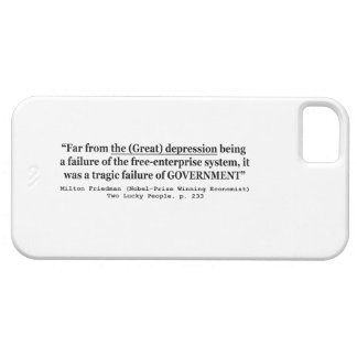 The Great Depression Was A Government Failure iPhone 5 Cover