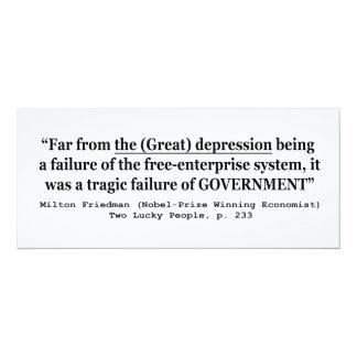 The Great Depression Was A Government Failure 4x9.25 Paper Invitation Card
