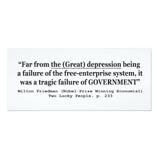The Great Depression Was A Government Failure Personalized Invitations