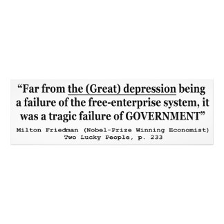 The Great Depression Was A Government Failure Photo Print