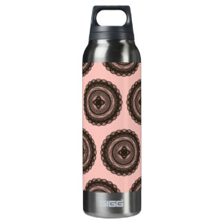 The Great Design Patterns pink brown Insulated Water Bottle