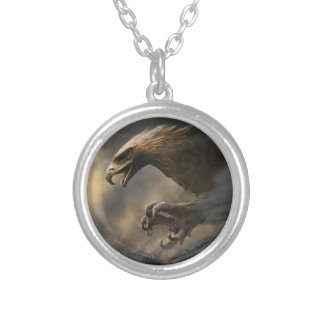 The Great Eagles Concept Round Pendant Necklace