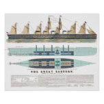 The Great Eastern 1858 Print