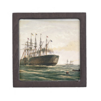 The Great Eastern under way, July 23rd, 1865, from Jewelry Box