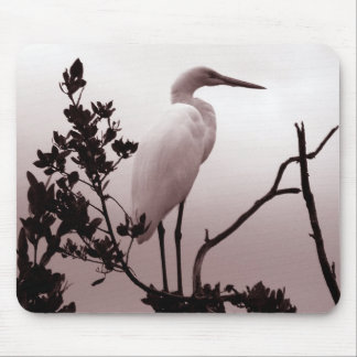 The Great Egret, Florida Keys Mouse Pad