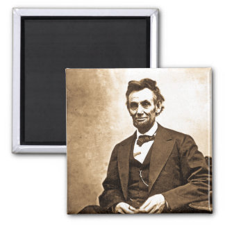 The Great Emancipator - Abe Lincoln (1865) 2 Inch Square Magnet