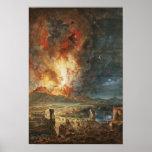 The Great Eruption of Mt. Vesuvius Poster