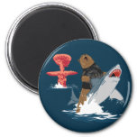 The Great Escape - bear shark cavalry 2 Inch Round Magnet