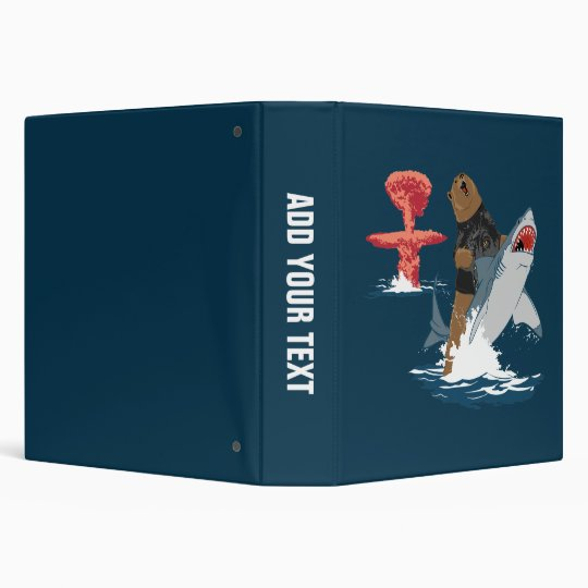 The Great Escape - bear shark cavalry 3 Ring Binder