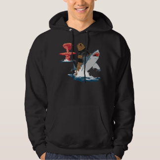 The Great Escape - bear shark cavalry Hooded Sweatshirt