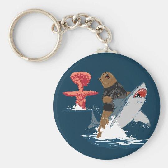 The Great Escape - bear shark cavalry Keychain