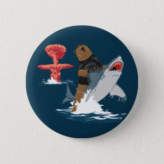 The Great Escape - bear shark cavalry Pinback Button