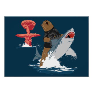 The Great Escape - bear shark cavalry Poster