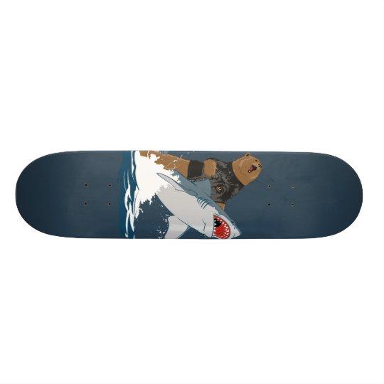The Great Escape - bear shark cavalry Skateboard Deck
