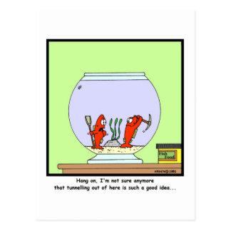 The Great Escape Goldfish cartoon Post Card