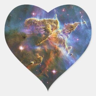 The Great Eta Carina Nebula NGC 3372 Heart Sticker