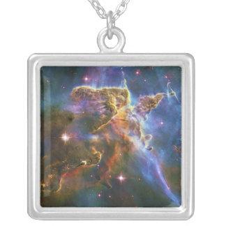 The Great Eta Carina Nebula NGC 3372 Square Pendant Necklace