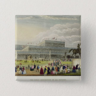 The Great Exhibition of all Nations, by Chavanne, Pinback Button
