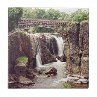 The Great Falls, Paterson, New Jersey Small Square Tile