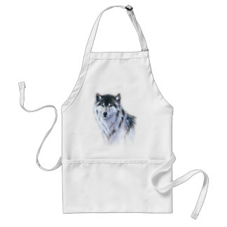 The great fierce wolf in all glory adult apron