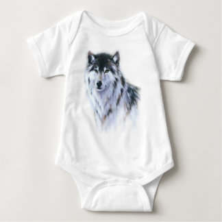 The great fierce wolf in all glory baby bodysuit
