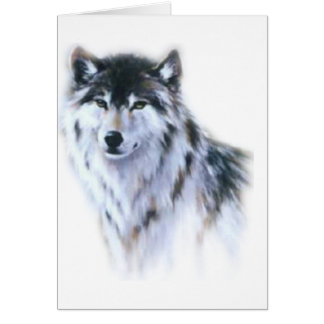 The great fierce wolf in all glory greeting card