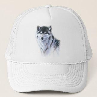 The great fierce wolf in all glory trucker hat