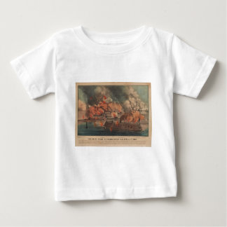 The Great Fight At Charleston 1863 Civil War Baby T-Shirt