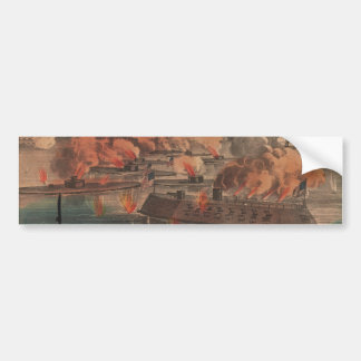 The Great Fight At Charleston 1863 Civil War Car Bumper Sticker