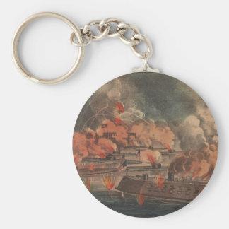 The Great Fight At Charleston 1863 Civil War Keychain