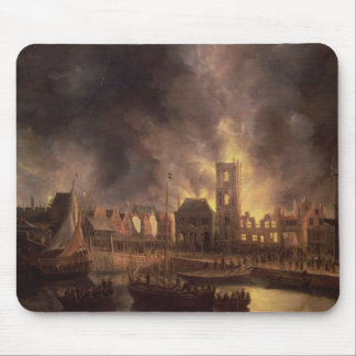 The Great Fire in the Old Town Hall, Amsterdam Mouse Pad