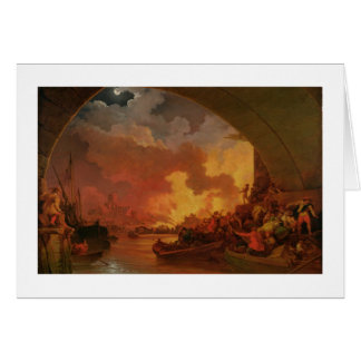 The Great Fire of London, c.1797 (oil on canvas) Card