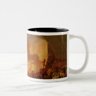 The Great Fire of London, c.1797 (oil on canvas) Mug